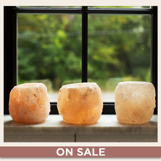 Himalayan Natural Salt Crystal Candle Holder - On Sale