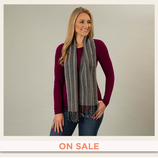 Hand-loomed Alpaca Wool Scarf - On Sale