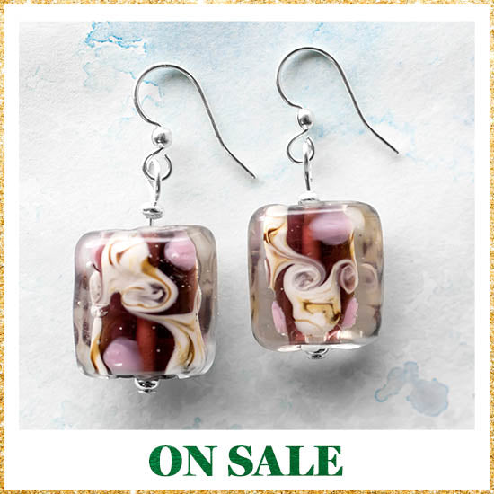 Colors of Inspiration Glass Earrings - On Sale