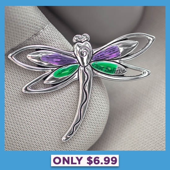 Just Believe Dragonfly Visor Clip - Only $6.99