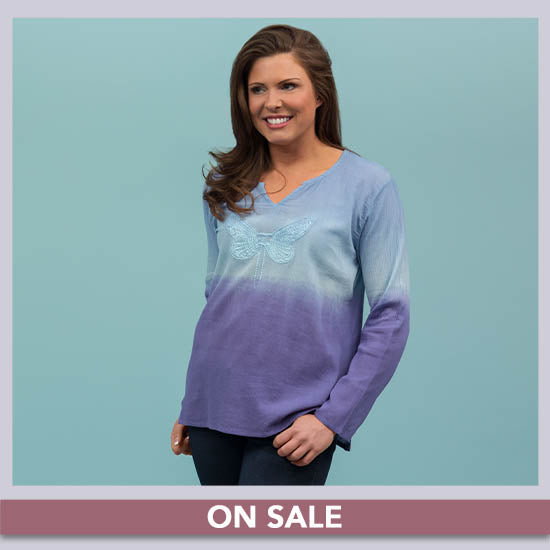 Dragonfly Delight Ombre Tunic - On Sale