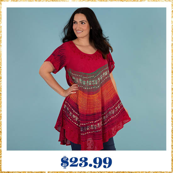 Setting Sun Short Sleeve Tunic - $23.99
