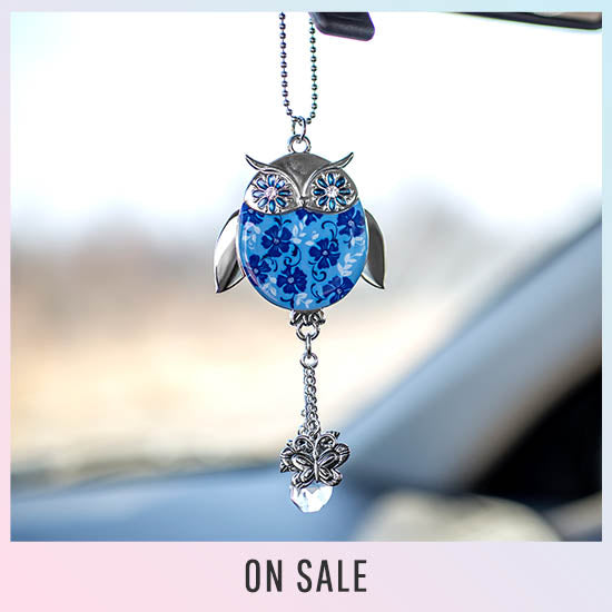 Wise in Love Owl Car Charm - On Sale