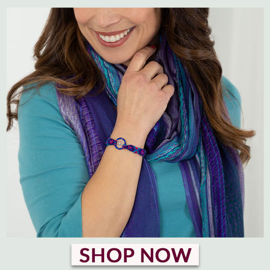 Dreaming Colors Hand-Loomed Scarf & Bracelet Set - Shop Now!