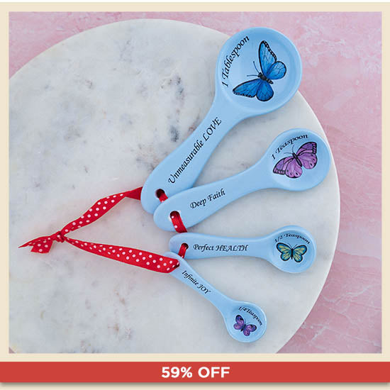 Love Beyond Measure Ceramic Measuring Spoons - 59% OFF