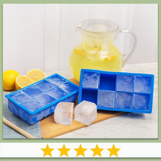 Silicone Jumbo Ice Cube Tray - Set of 2 - ★★★★★