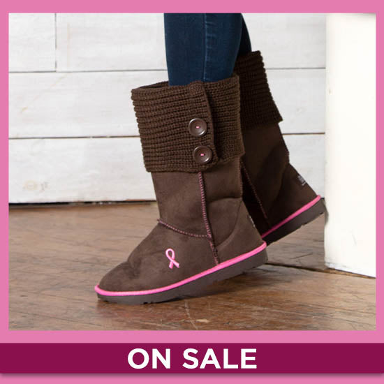 Path To Pink™ Ribbon Sweater Boots - On Sale