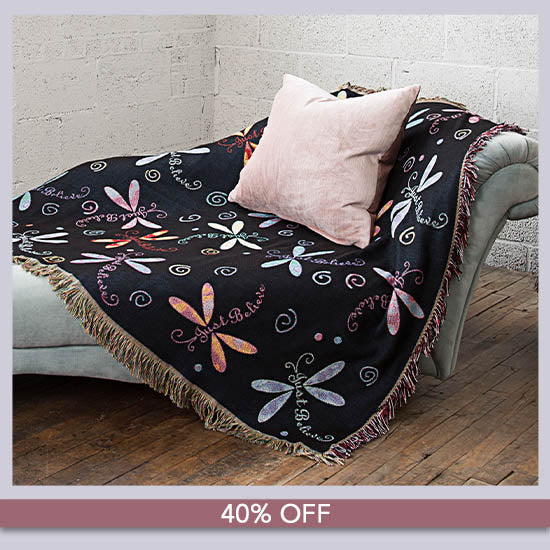 Dragonfly Tapestry Throw Blanket - 40% OFF