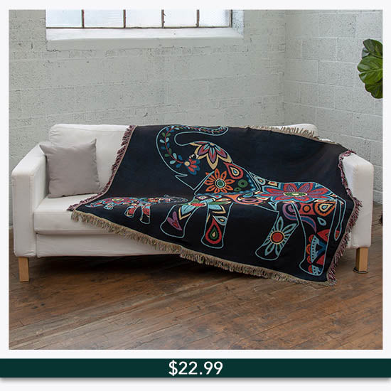 Elephant Tapestry Throw Blanket - $22.99