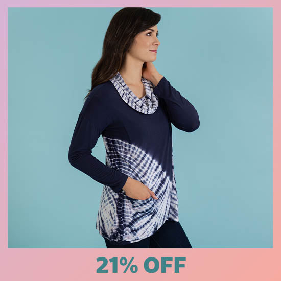 Waves Gone By Crossover Tunic - 21% OFF