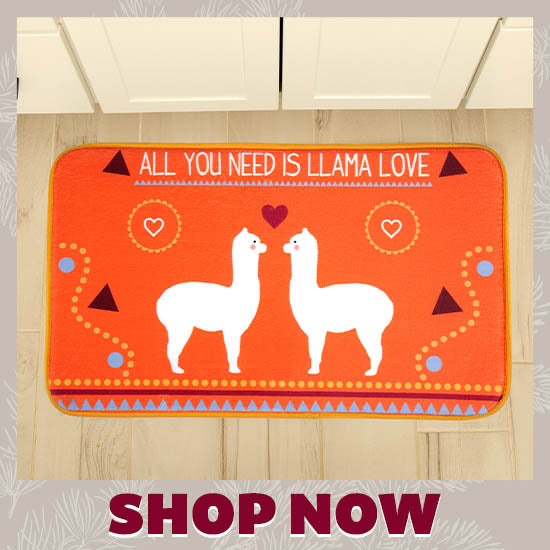 Llama Love Memory Foam Indoor Mat - Shop Now