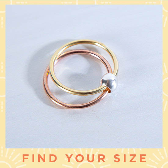 Spin Me Round Sterling Silver Bead Fidget Ring - Find Your Size