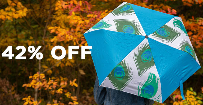 Peacock Splash Umbrella | 42% OFF