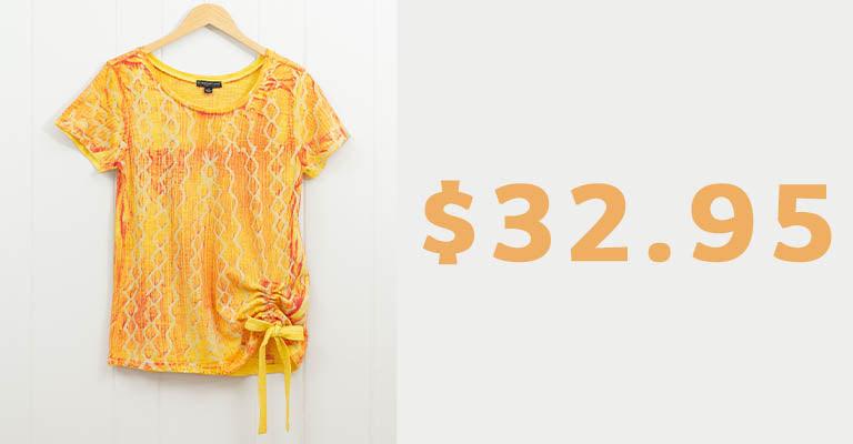 Sun-Kissed Hand Painted Top | $32.95