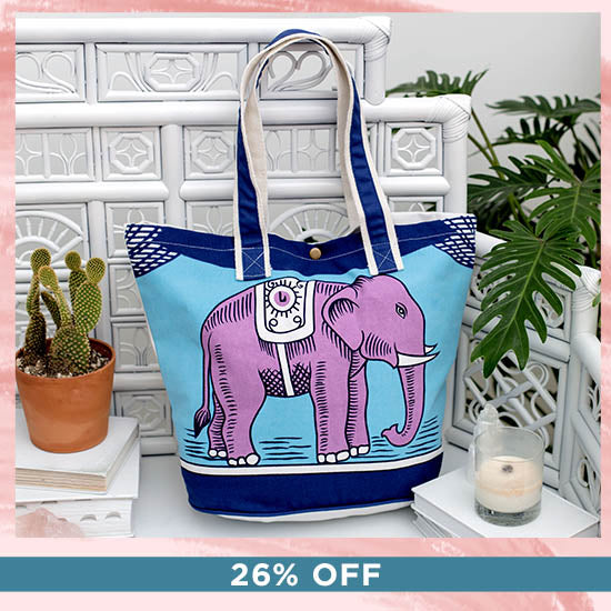 Matchbox Elephant Tote Bag - 26% OFF