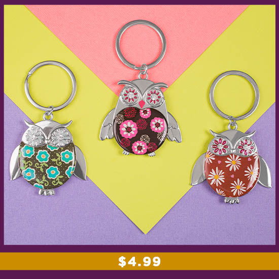 Wise in Love Owl Keychain - $4.99