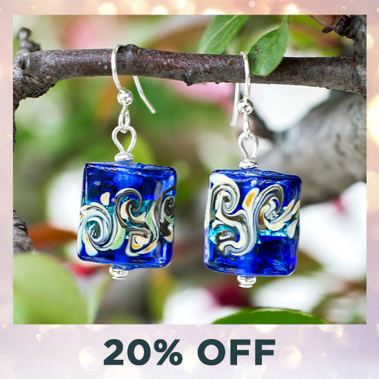 Colors of Inspiration Glass Earrings - 20% OFF