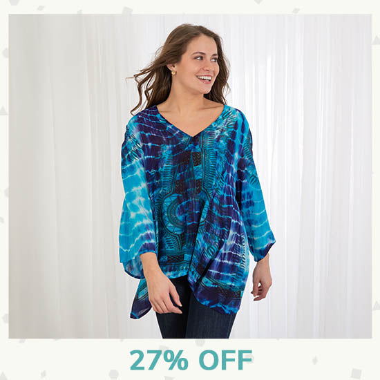 Tie-Dye Spirit Long Sleeve Top - 27% OFF