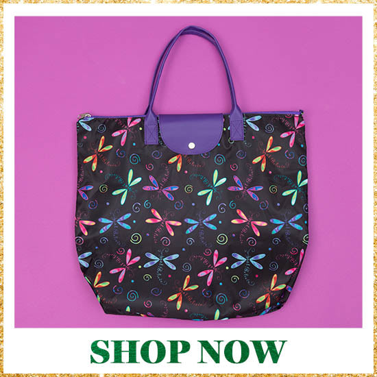 Just Believe Dragonfly Fold-up Tote Bag - Shop Now