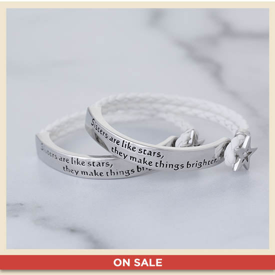 Sisters Are Like Stars Braided Bracelet - On Sale