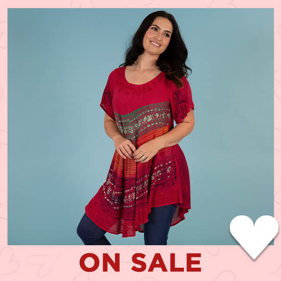Setting Sun Short Sleeve Tunic - On Sale