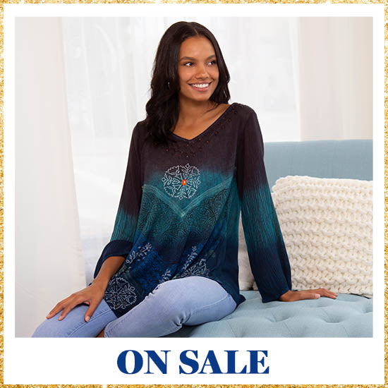 Earth & Sky Long Sleeve Tunic - On Sale