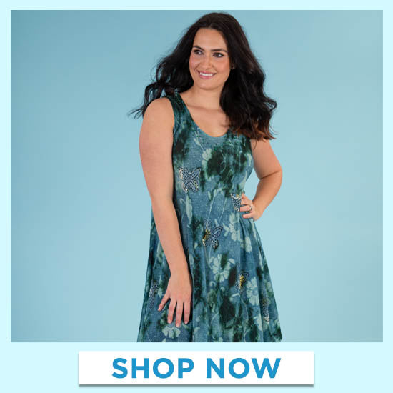 Butterflies & Blooms Long Dress