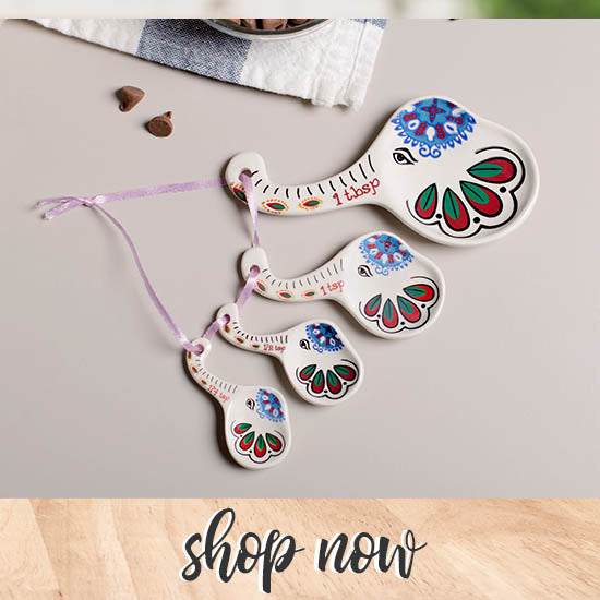 Elephant Beauty Ceramic Measuring Spoons - Shop Now