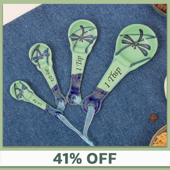 Dragonfly Beauty Ceramic Measuring Spoons - 41% OFF