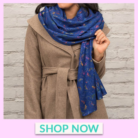 Dragonfly Shimmer Scarf - Shop Now