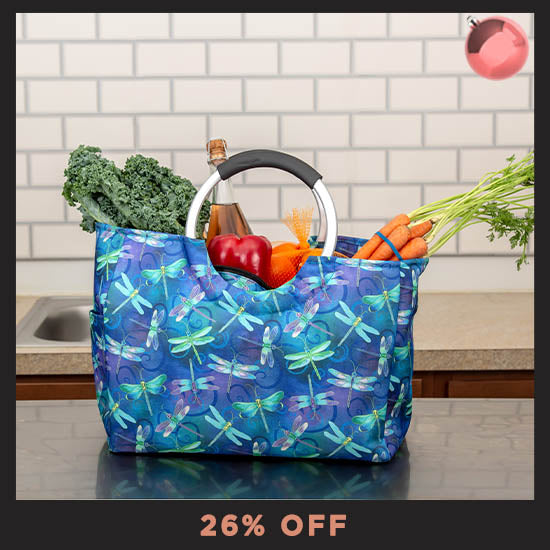 Dragonfly Dream Insulated Shopping Bag  - 26% OFF
