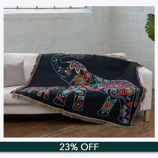 Elephant Tapestry Throw Blanket - 23% OFF
