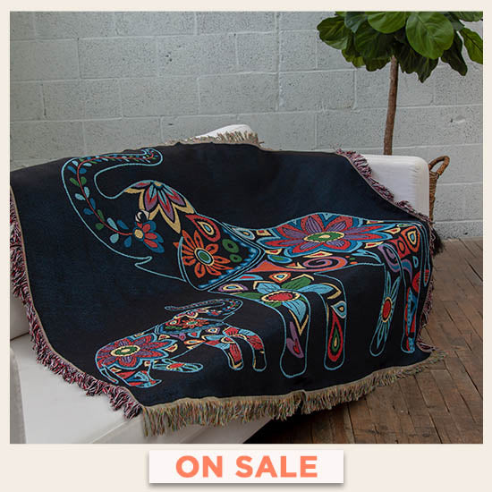Elephant Tapestry Throw Blanket - On Sale