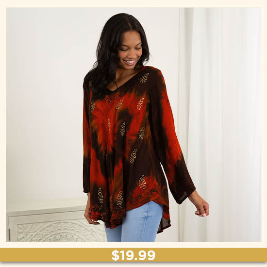 Ring of Fire Long Sleeve Tunic - $19.99