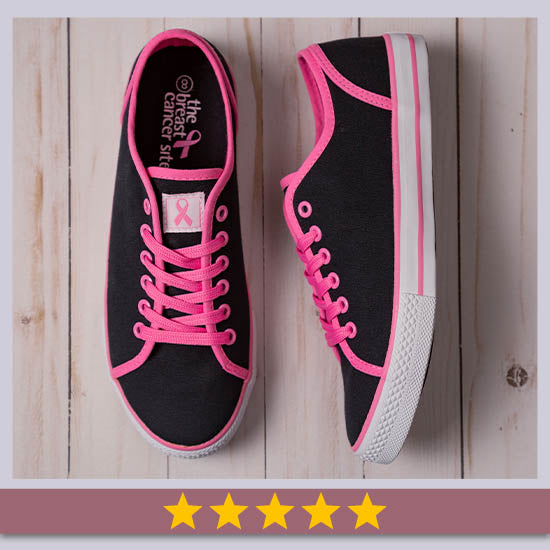 Pink Ribbon Breast Cancer Sneakers - ★★★★★
