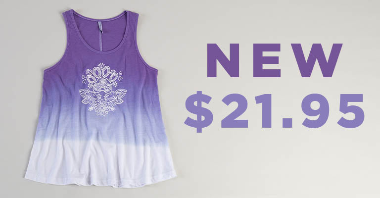 Paw Print Henna Ombre Tank Top | New | $21.95