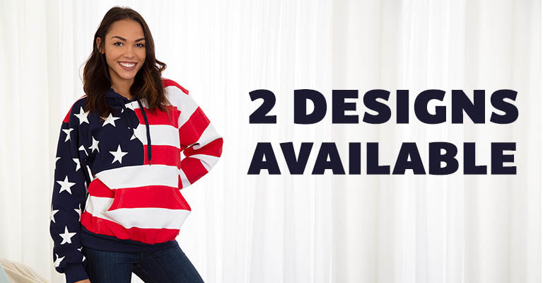 American Flag Sweatshirt | 2 Designs Available