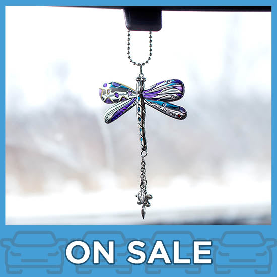 Just Believe Dragonfly Car Charm
