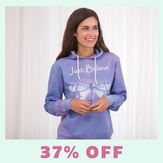 Just Believe Dragonfly Lightweight Hoodie - 37% OFF