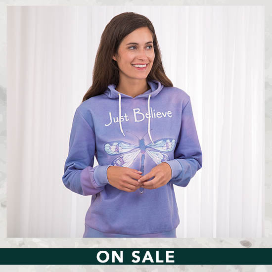 Just Believe Dragonfly Lightweight Hoodie - On Sale