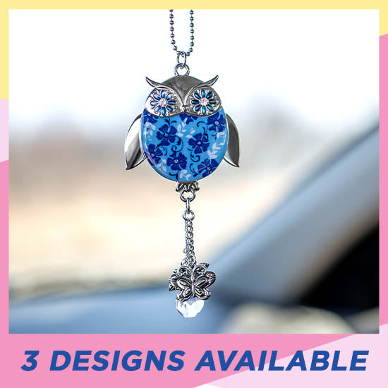 Wise in Love Owl Car Charm - 3 Designs Available