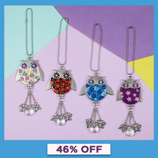 Wise in Love Owl Car Charm - 46% OFF