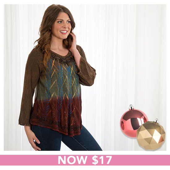 Masala Spice Long Sleeve Tunic - Now $17