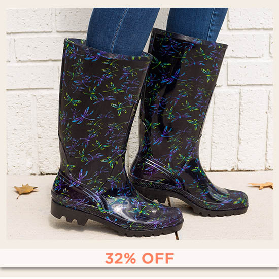 Ultralite™ Flight of the Dragonfly Rain Boots - 32% OFF