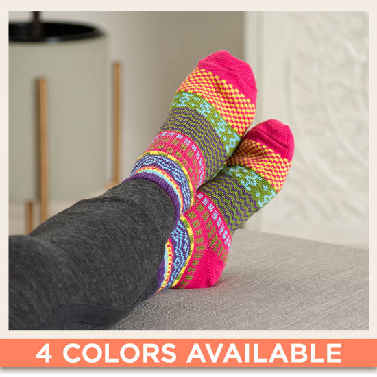 Northern Lights Slipper Socks - 4 Colors Available
