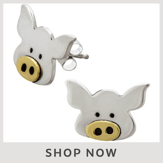 Hippo Post Earrings - Shop Now