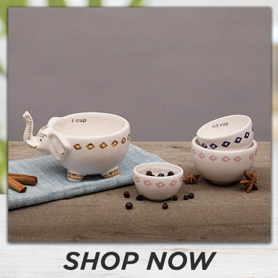 Ceramic Elephant Stacking Measuring Cup Set - Shop Now