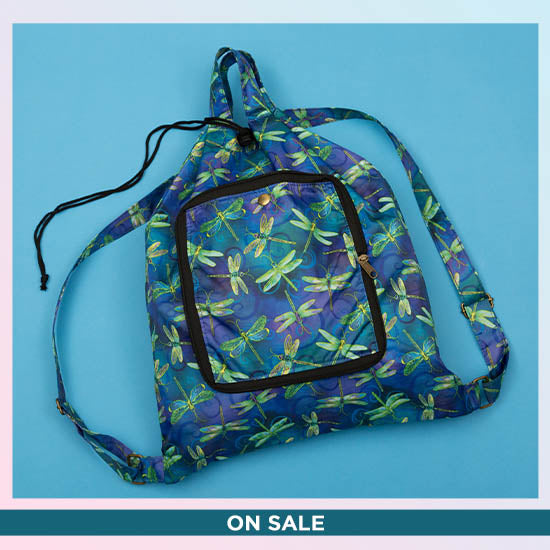 Swirling Dragonflies Packable Backpack - On Sale
