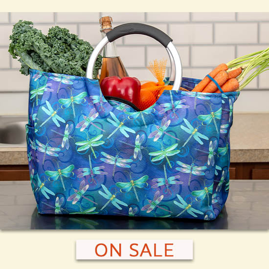 Dragonfly Dream Insulated Shopping Bag - On Sale