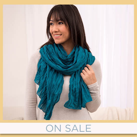 Classic Cotton Crinkle Scarf - $11.99